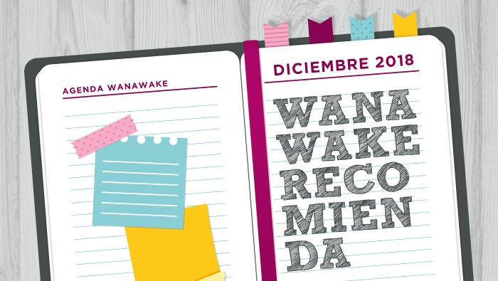 Wanawake recomienda: Agenda diciembre 2018
